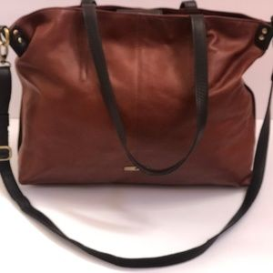 Lucky Brand Shoulderbag Brown Leather Messenger
